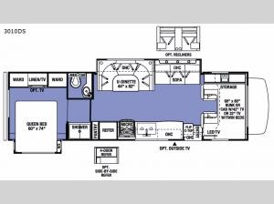Sunseeker 3010DS Ford Floorplan Image