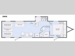 Spyder 29KS Floorplan Image