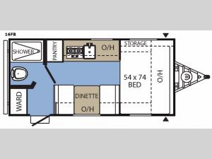 Clipper Ultra-Lite 16FB Floorplan Image