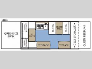 Clipper Camping Trailers 128LS Floorplan Image