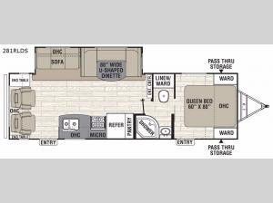 Freedom Express Liberty Edition 281RLDS Floorplan Image