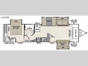 Freedom Express Liberty Edition 321FEDS Floorplan Image