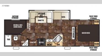 Floorplan - 2016 Forest River RV Cherokee 274DBH