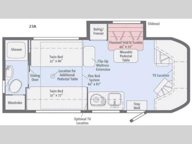 Floorplan - 2017 Winnebago Fuse 23A