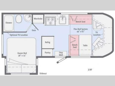 Floorplan - 2017 Winnebago Fuse 23T