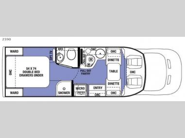 Floorplan - 2017 Forest River RV Sunseeker 2390 Ford