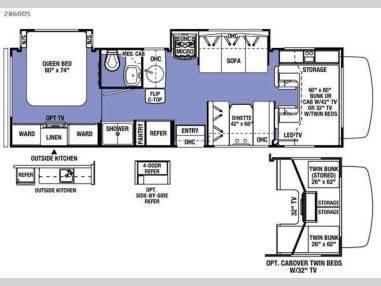Floorplan - 2017 Forest River RV Sunseeker 2860DS Ford
