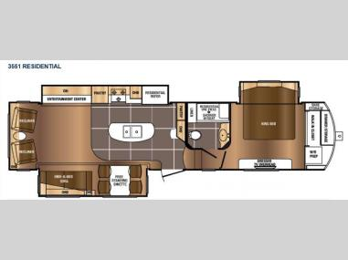 Floorplan - 2017 Prime Time RV Sanibel 3551