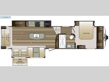 Floorplan - 2017 Keystone RV Cougar 333MKS