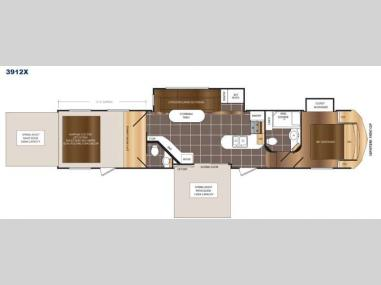 Floorplan - 2017 Prime Time RV Spartan 300 Series 3912X