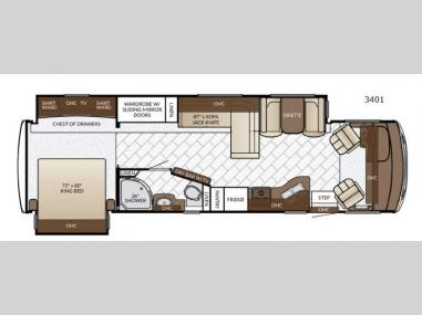 Floorplan - 2017 Newmar Bay Star 3401