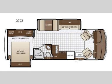 Floorplan - 2017 Newmar Bay Star Sport 2702