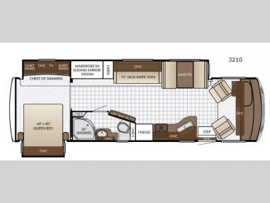 Floorplan - 2017 Newmar Bay Star Sport 3210