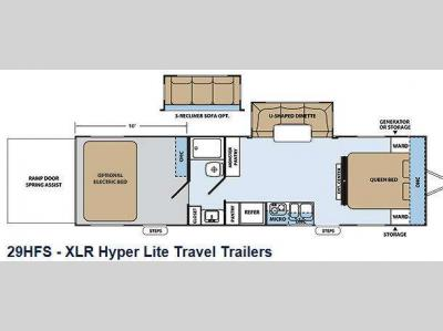 Used 2014 Forest River Rv Xlr Hyper Lite 29hfs Toy Hauler