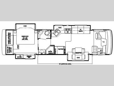 used newmar kountry star motor home class a diesel at floorplan 2007 newmar kountry star diesel ksdp 3624