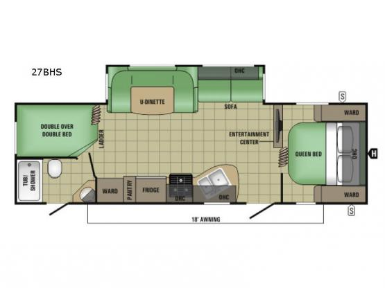 AR-ONE MAXX 27BHS Floorplan Image