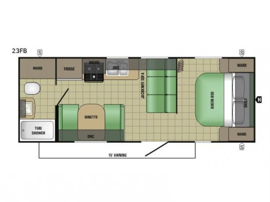 AR-ONE MAXX 23FB Floorplan Image