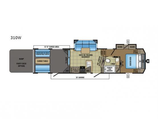 Seismic Wave 310W Floorplan Image