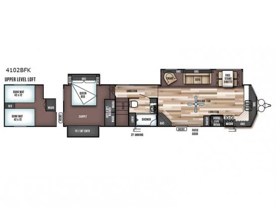 Wildwood Lodge 4102BFK Floorplan Image