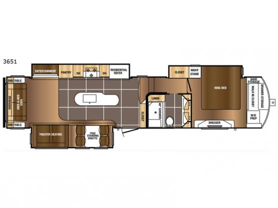Sanibel 3651 Floorplan Image