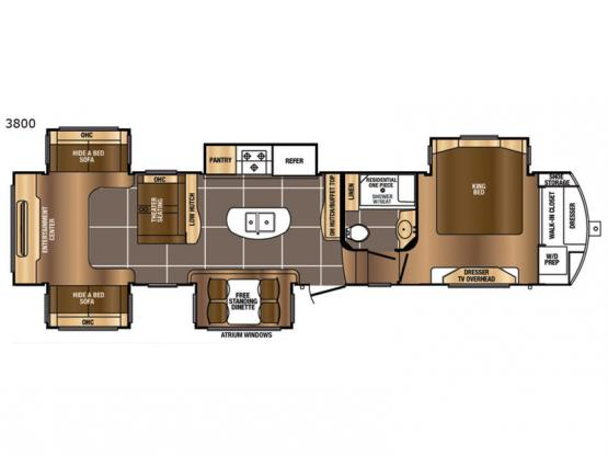 Sanibel 3800 Floorplan Image