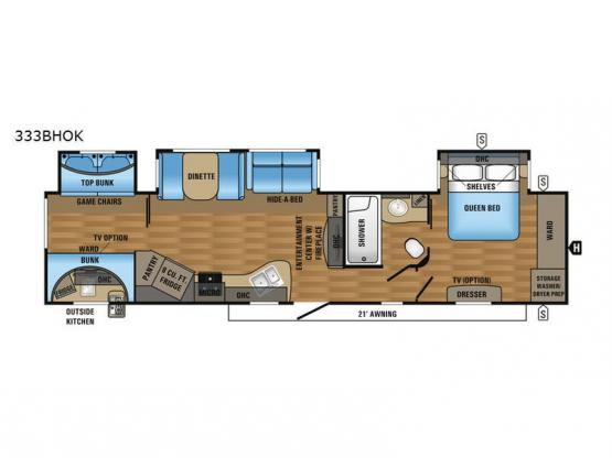 Eagle 333BHOK Floorplan Image