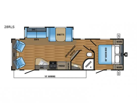 Jay Flight 28RLS Floorplan Image