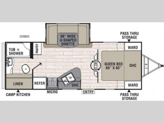 Freedom Express 231RBDS Floorplan Image