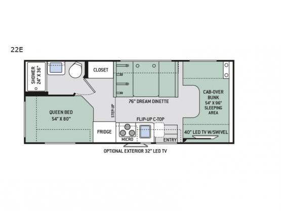 Four Winds 22E Floorplan Image