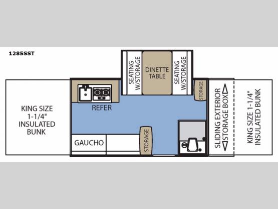 Clipper Camping Trailers 1285SST Classic Floorplan Image