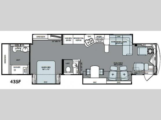 Scepter 43SF Floorplan Image