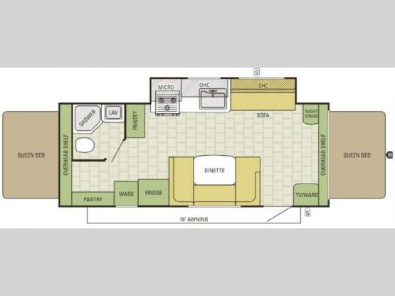 Travel Star 227CKS Floorplan Image