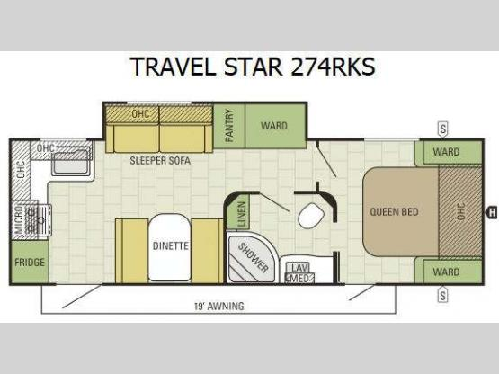 Travel Star 274RKS Floorplan Image