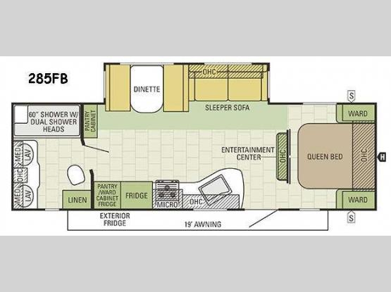Travel Star 285FB Floorplan Image