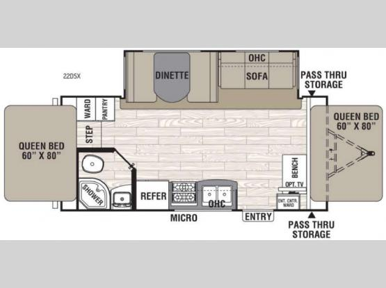 Freedom Express 22DSX Floorplan Image