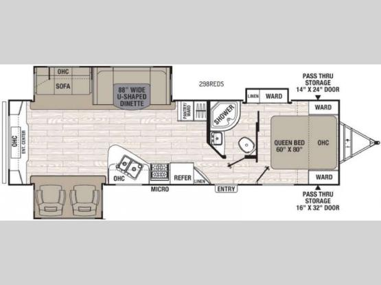 Freedom Express 298REDS Floorplan Image