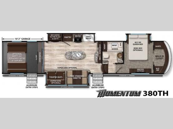 Momentum 380TH Floorplan Image