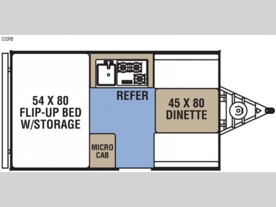 Clipper Camping Trailers C12RB Floorplan Image