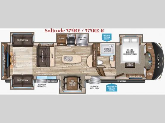 Solitude 375RE R Floorplan Image