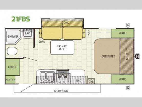 Launch Ultra Lite 21FBS Floorplan Image