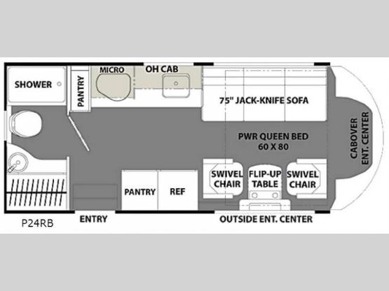Orion P24RB Floorplan Image
