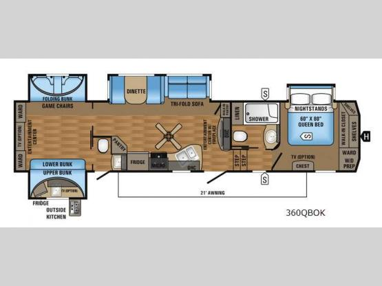 Eagle 360QBOK Floorplan Image