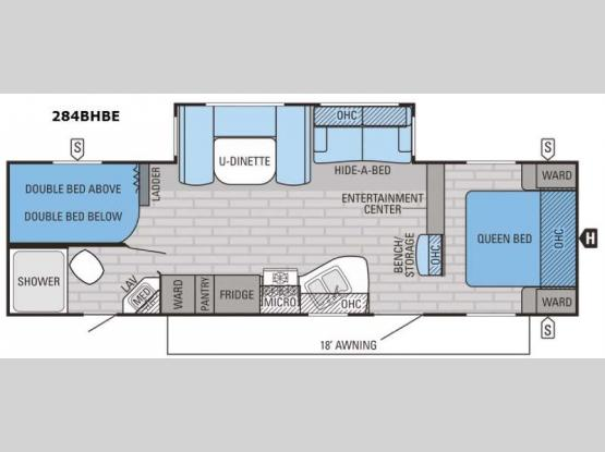 Eagle 284BHBE Floorplan Image