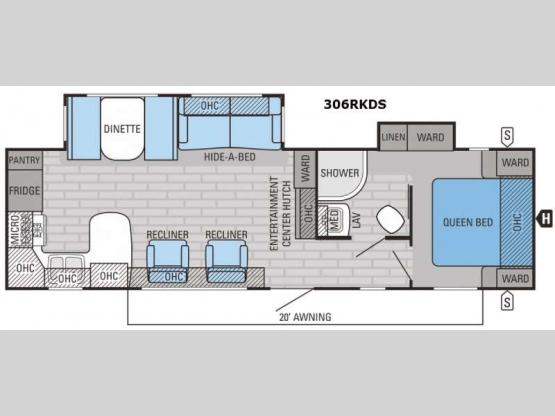 Eagle 306RKDS Floorplan Image