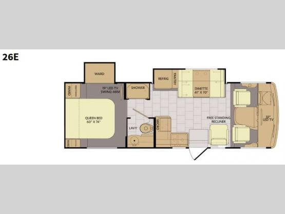 Flair 26E Floorplan Image