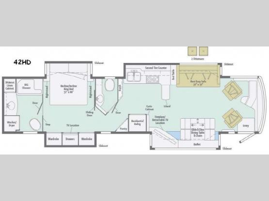 Tour 42HD Floorplan Image