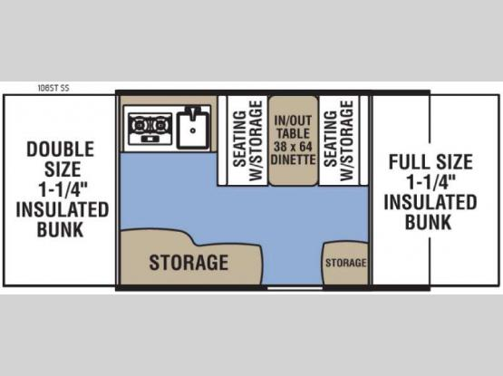 Clipper Camping Trailers 106ST SS Floorplan Image