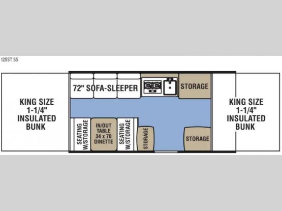 Clipper Camping Trailers 125ST SS Floorplan Image