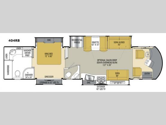 Sportscoach Cross Country RD 404RB Floorplan Image