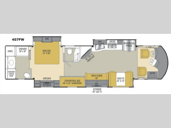 Sportscoach Cross Country RD 407FW Floorplan Image